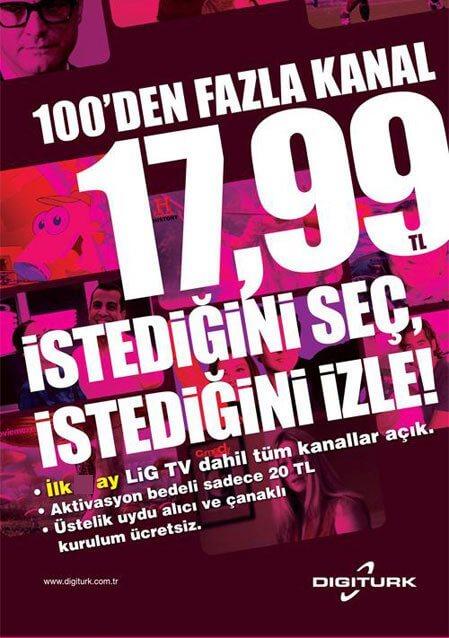 Digiturk 17,99TL