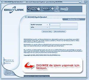 Digiturk Digiweb Online İşlemler merkezi