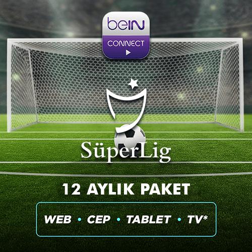 Süper Lig 12 Aylık Paket (Web, Cep, Tablet, Smart TV)